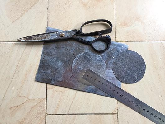 Cut steel discs